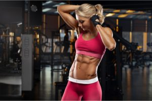 toned woman with abs