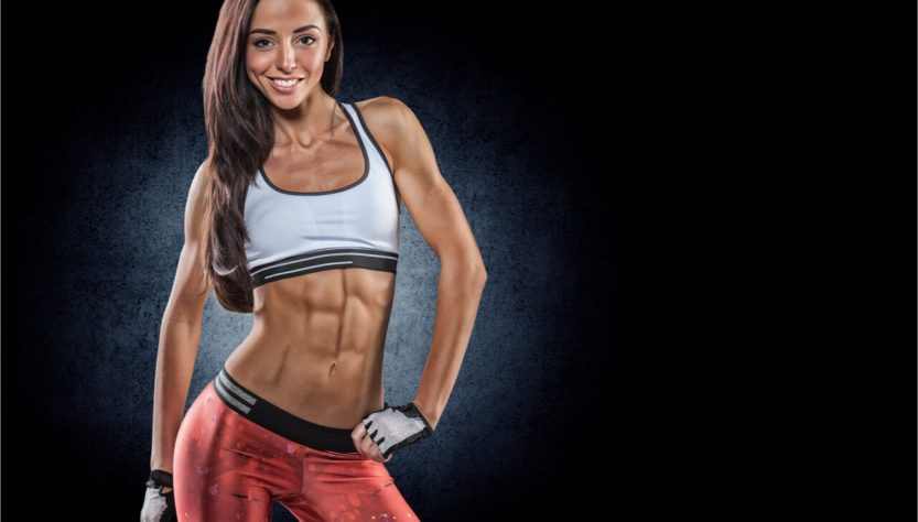 smiling woman with abs