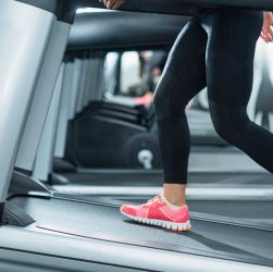 inclined treadmill to workout your glutes